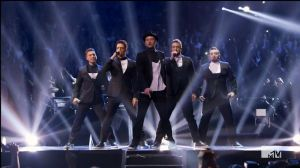 Justin Timberlake & NSYNC on stage