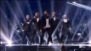 Justin Timberlake & NSYNC on stage