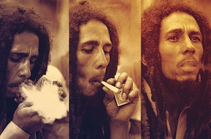 Bob Marley one of the most popular icon of the Rasta religion.