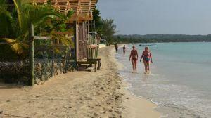 Negril beach shoreline